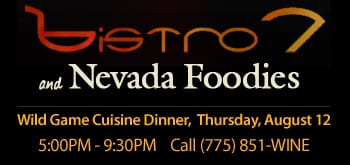 Nevada Foodies Guest Chef night at Bistro 7 August 12