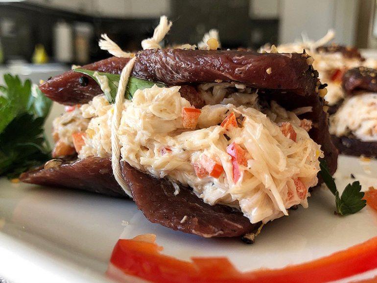 Crab Stuffed Venison Elk Steaks Wild Game Cuisine Nevadafoodies